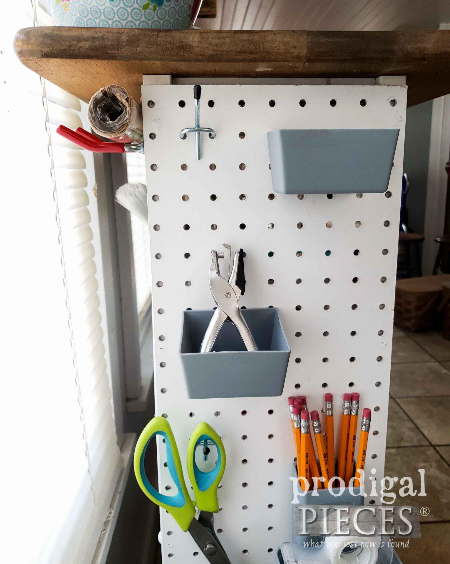 Kraft Paper Storage on Cart by Larissa of Prodigal Pieces | prodigalpieces.com #prodigalpieces #crafts #diy #storage