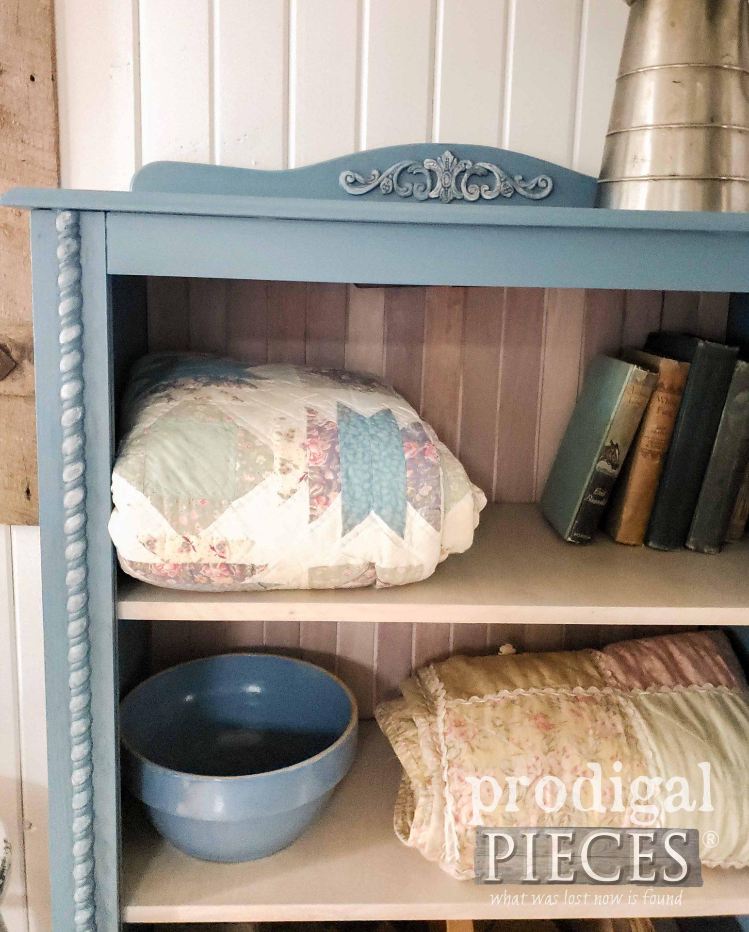 Left Corner Cabinet in Blue by Larissa of Prodigal Pieces   prodigalpieces.com #prodigalpieces #cottage #diy #home #homedecor