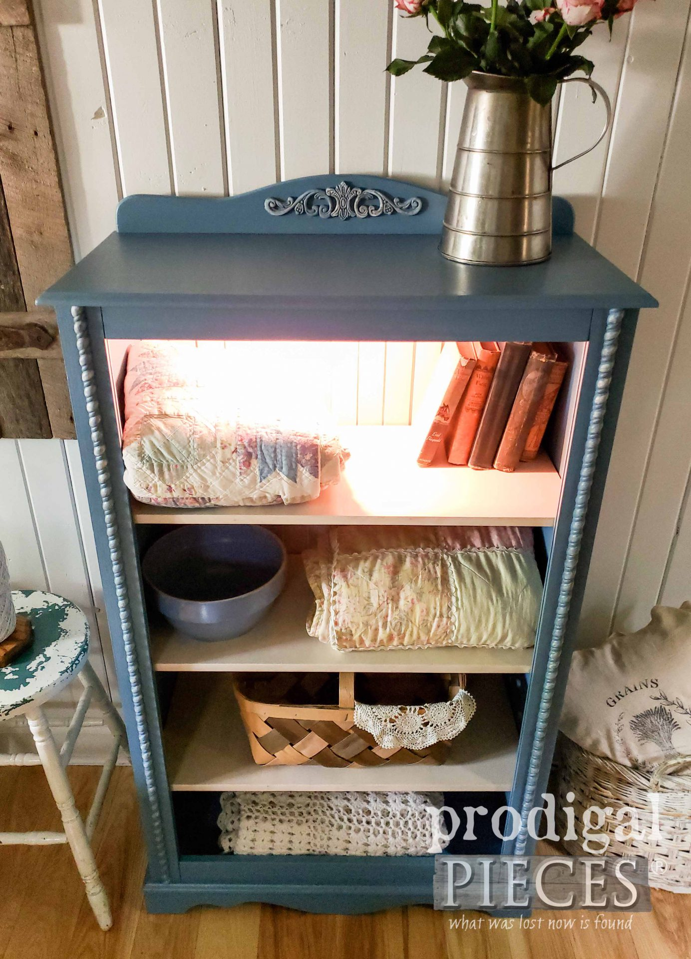 Lighted Cottage Cabinet by Larissa of Prodigal Pieces | prodigalpieces.com #prodigalpieces #diy #home #furniture #home