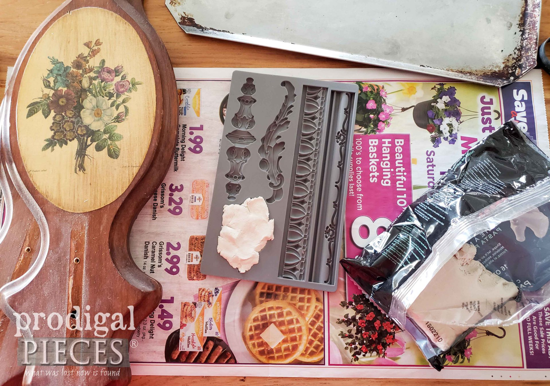 Making Appliques with Iron Orchid Molds and Paper Clay | prodigalpieces.com