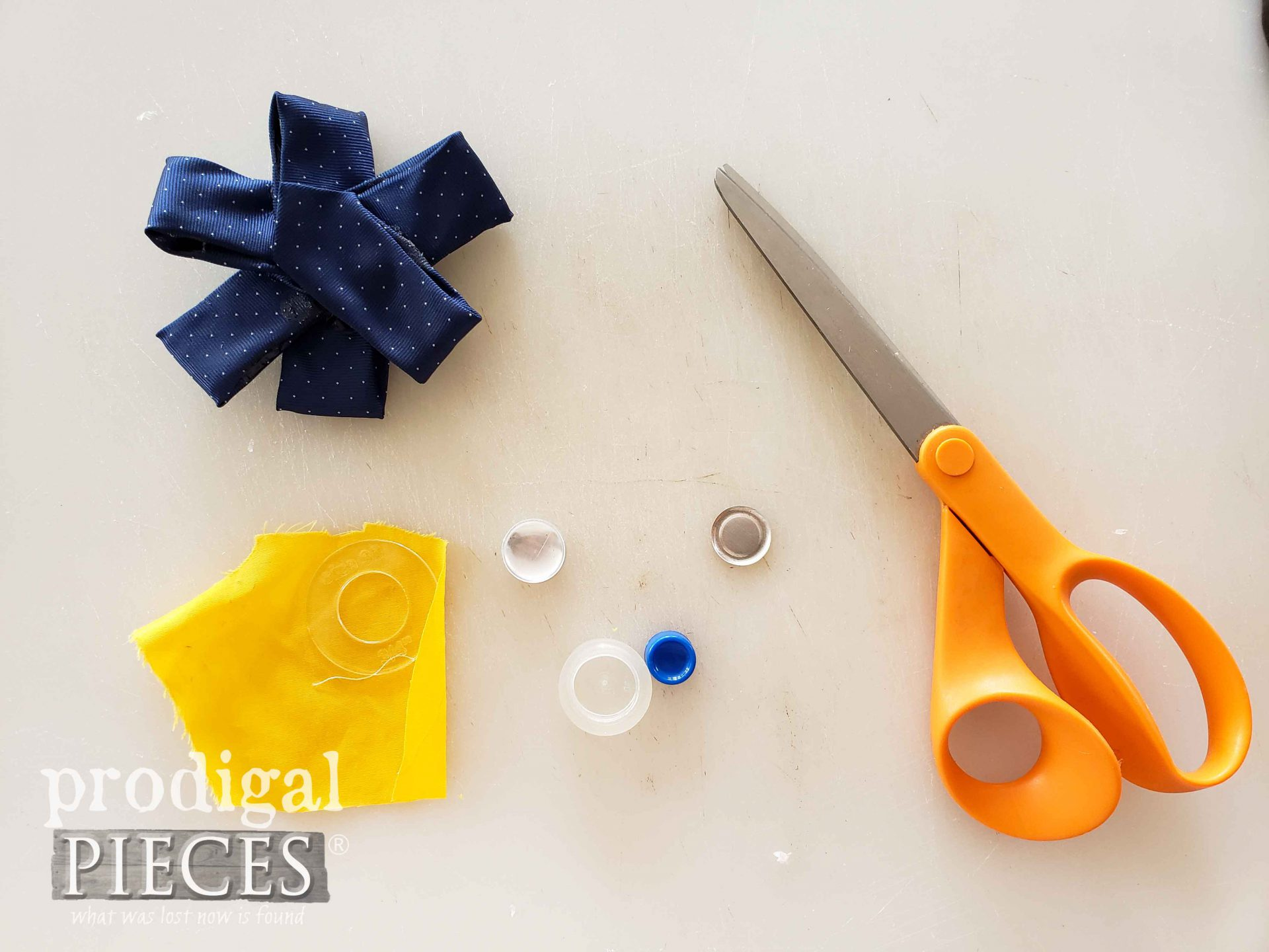 Upcycled Boutonniere Parts for Pinwheel Flower by Larissa of Prodigal Pieces | prodigalpieces.com #prodigalpieces #diy #handmade #wedding #fathersday #dad
