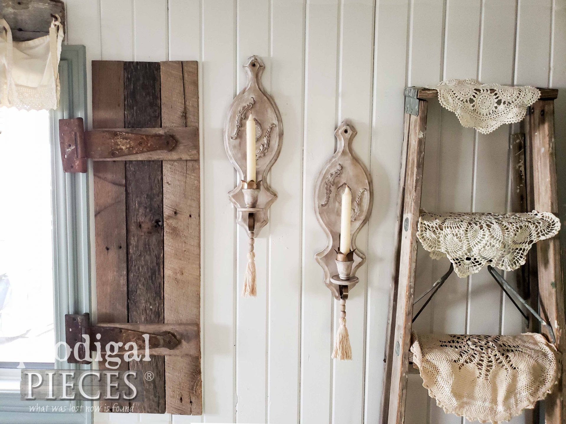 Pair of Vintage Candle Sconces by Larissa of Prodigal Pieces | prodigalpieces.com #prodigalpieces #diy #home #homedecor #farmhouse