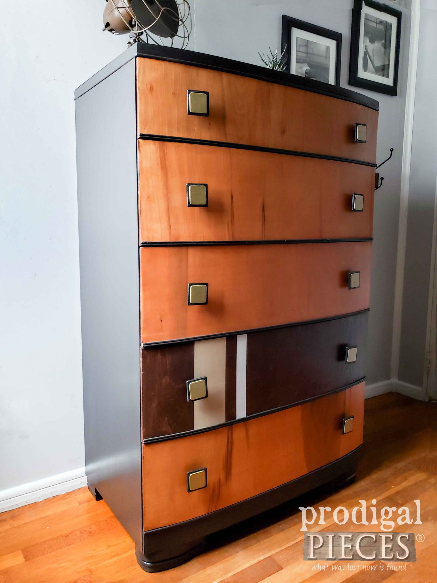 Side View Art Deco Chest by Larissa of Prodigal Pieces | prodigalpieces.com #prodigalpieces #furniture #vintage #artdeco