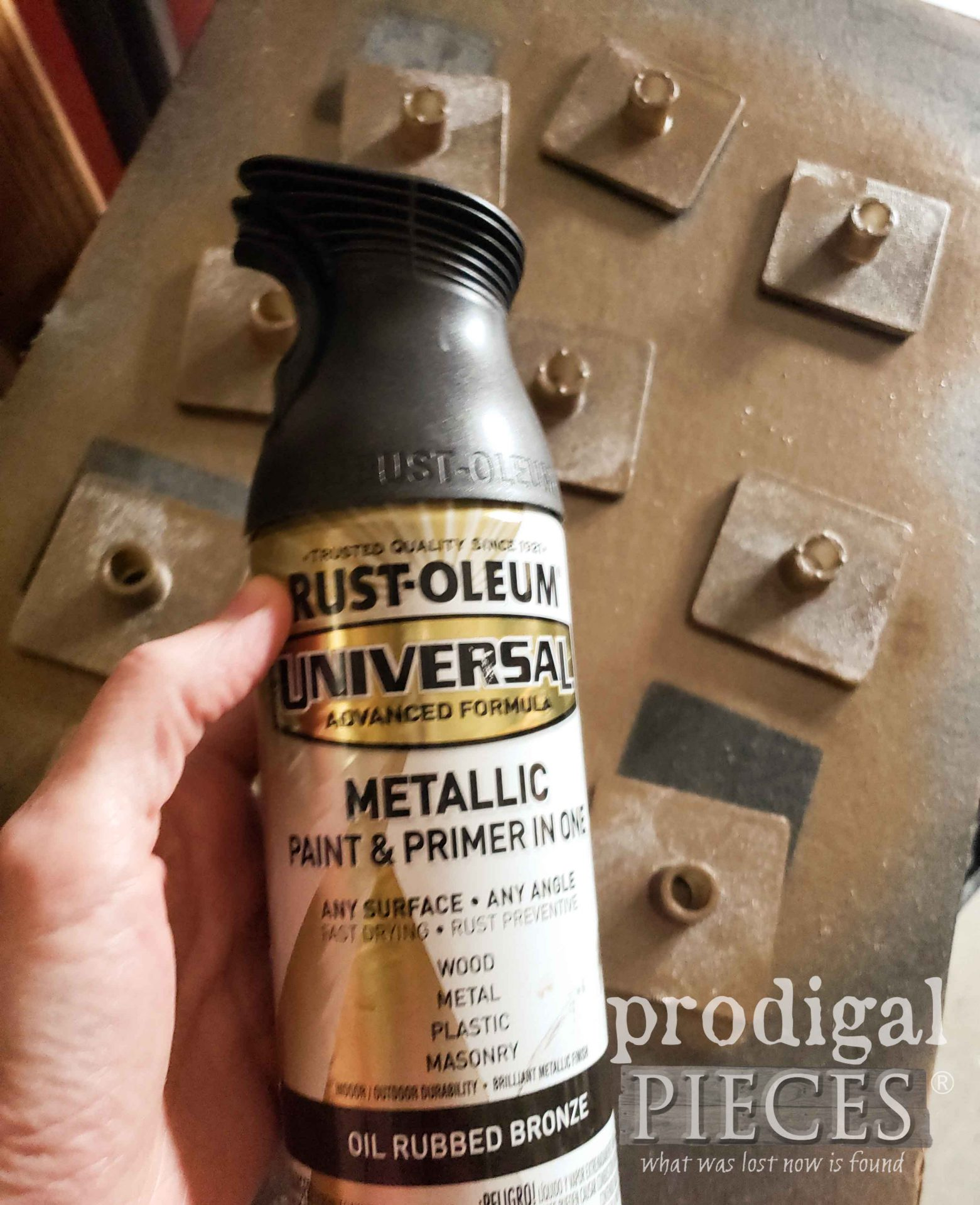 Spray Painting Acrylic Pulls | prodigalpieces.com