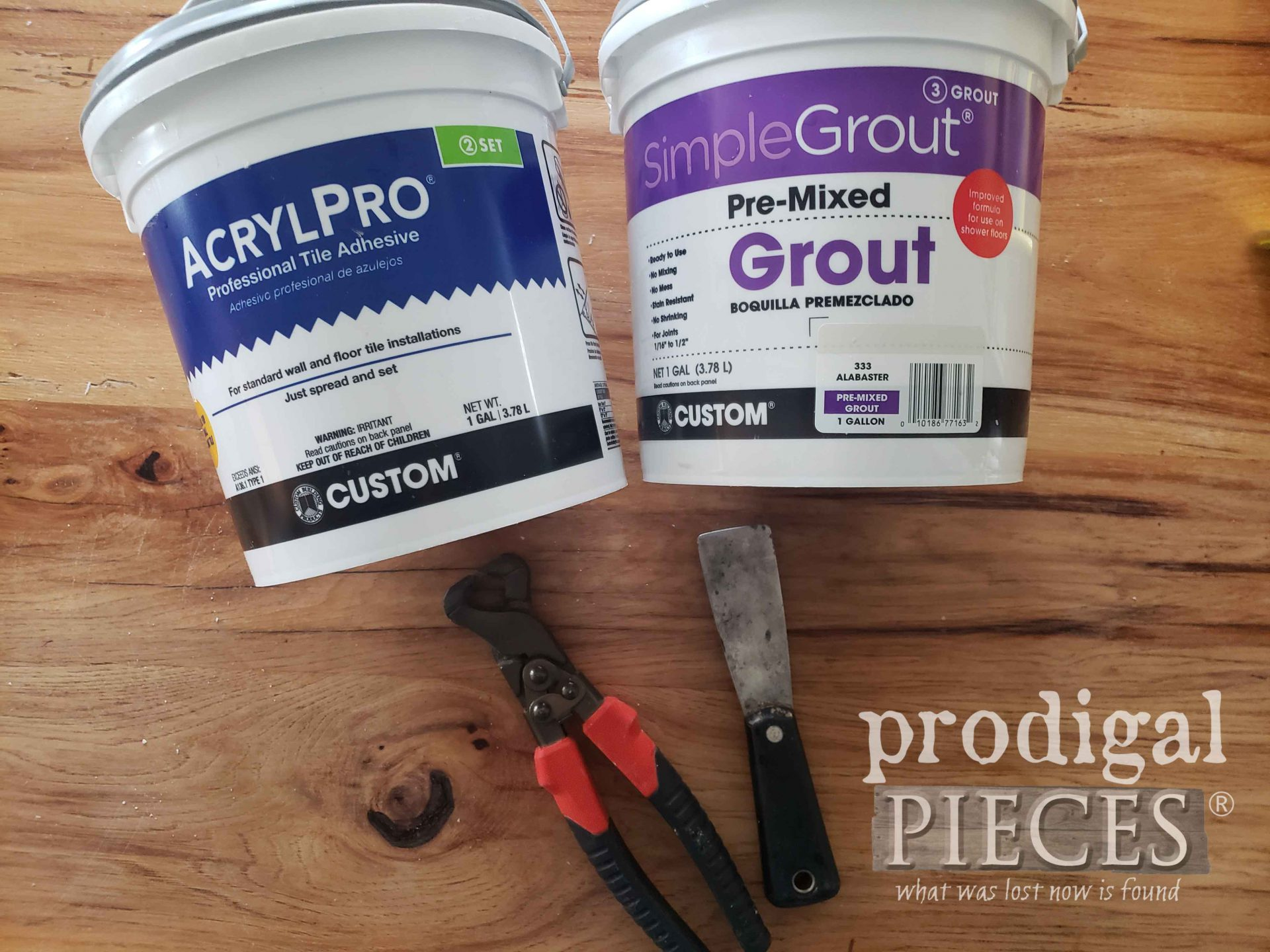 DIY Tiled Tray Tiling Supplies | prodigalpieces.com