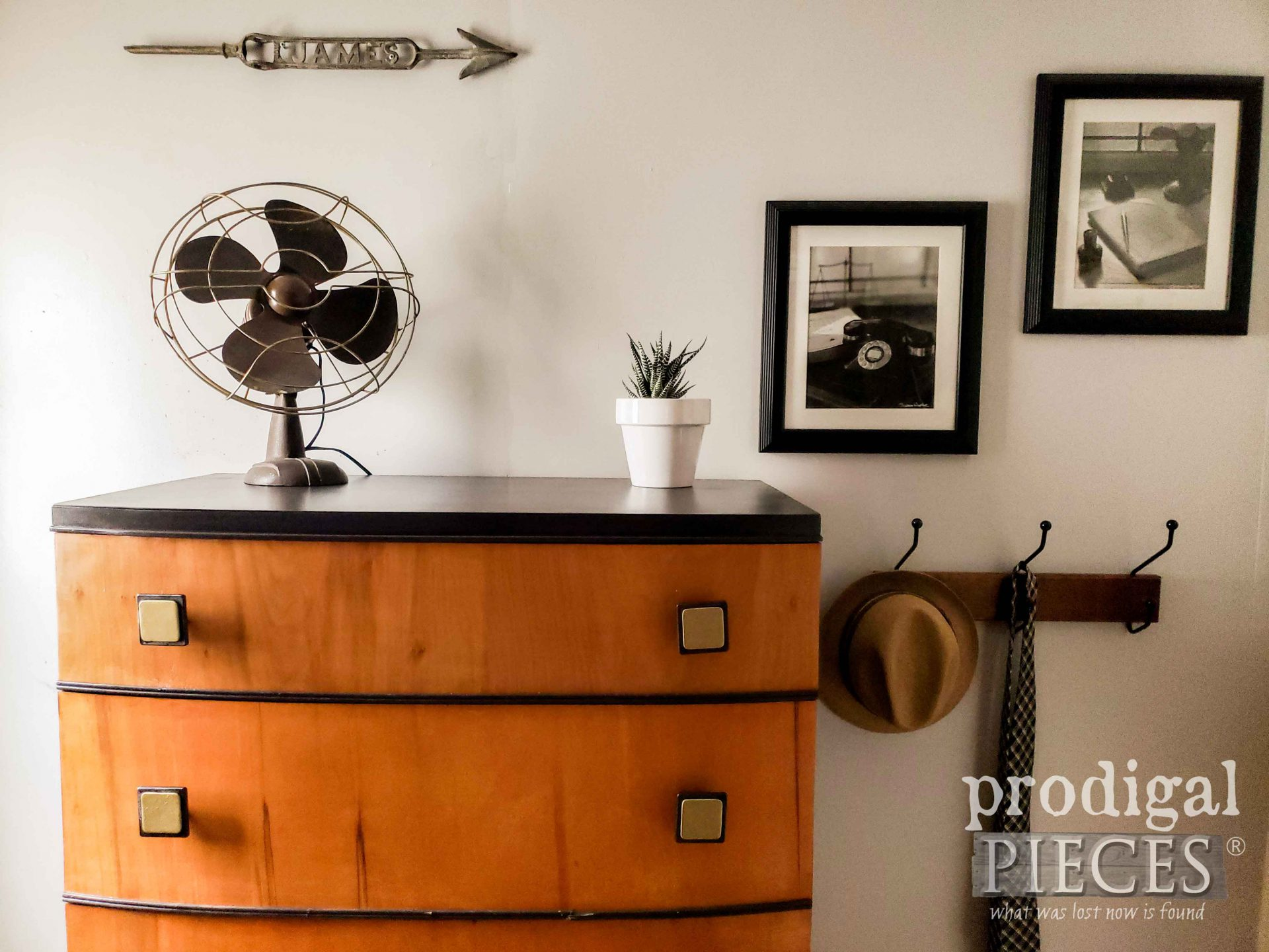 Vintage Art Deco Chest Top with Vignette by Larissa of Prodigal Pieces | prodigalpieces.com #prodigalpieces #furniture #vintage #home