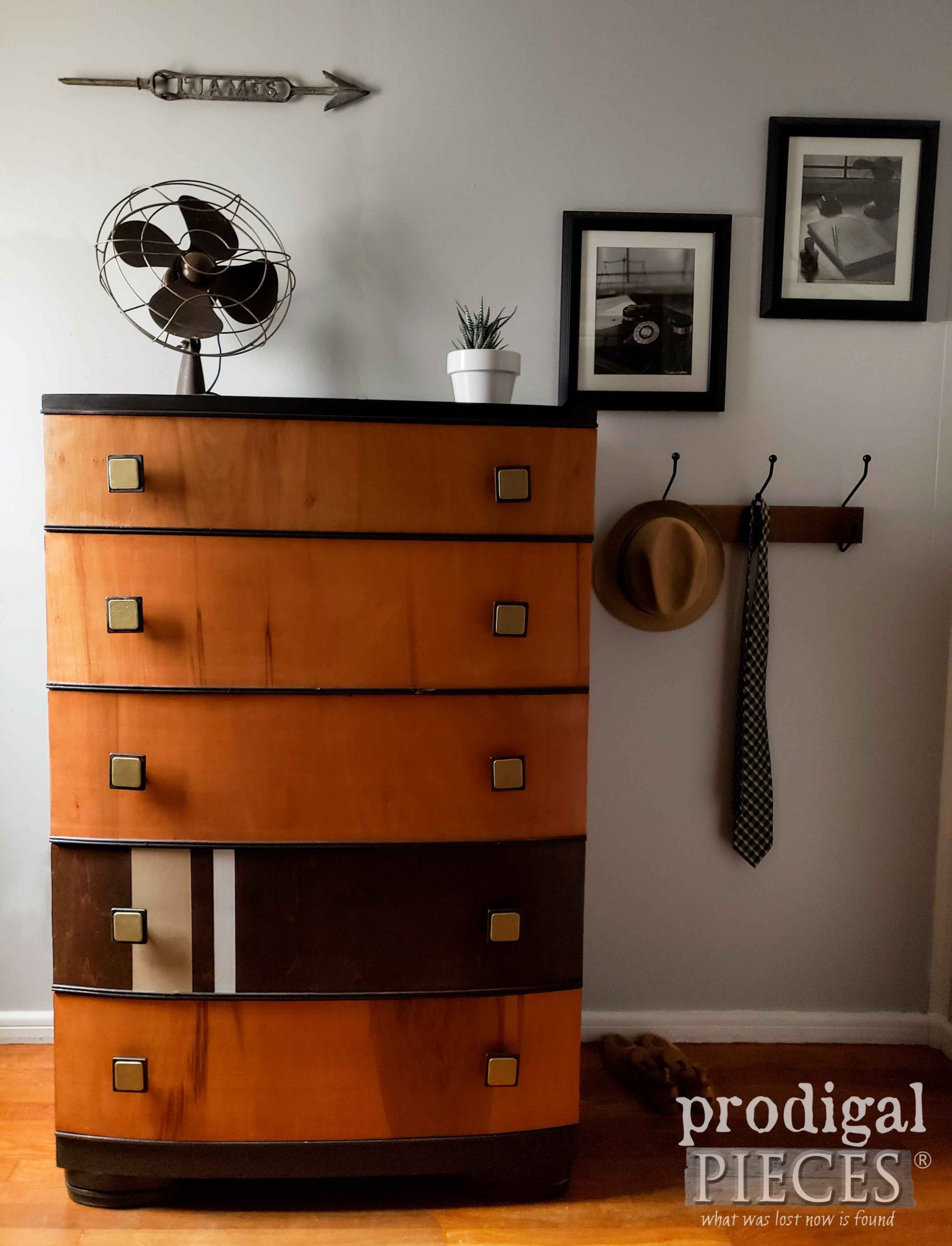 Vintage Art Deco Chest of Drawers with Masculine Feel by Larissa of Prodigal Pieces | prodigalpieces.com #prodigalpieces #furniture #home #homedecor