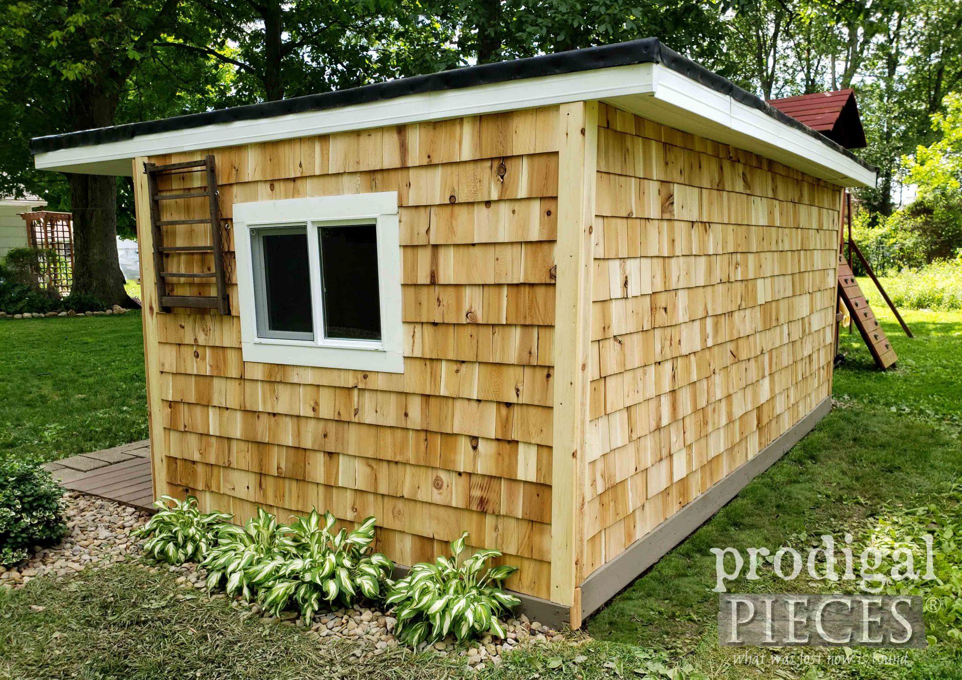 Back of Cedar Shed by Prodigal Pieces | prodigalpieces.com #prodigalpieces