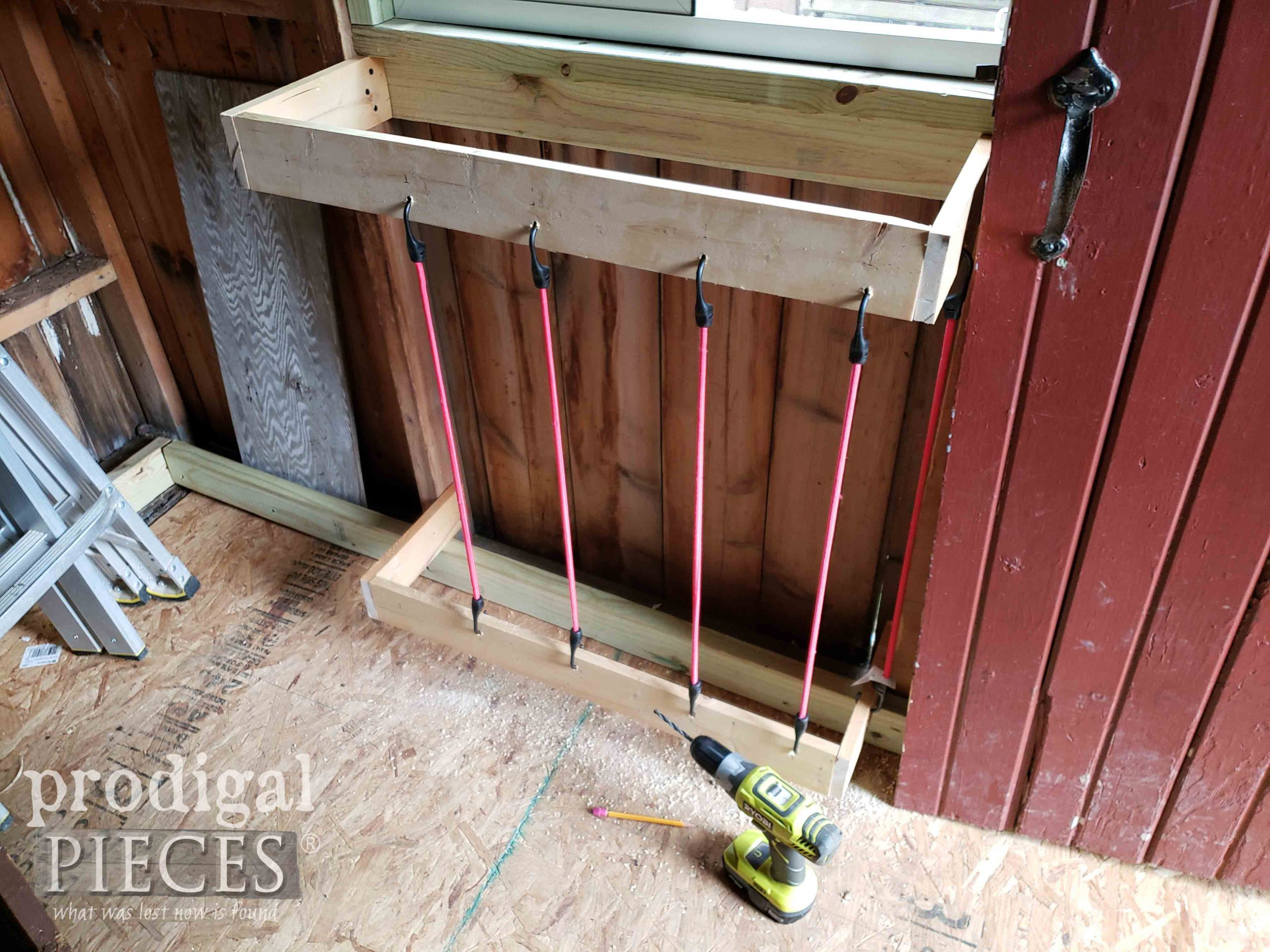 Ball Holder Bin for Garden Shed | prodigalpieces.com