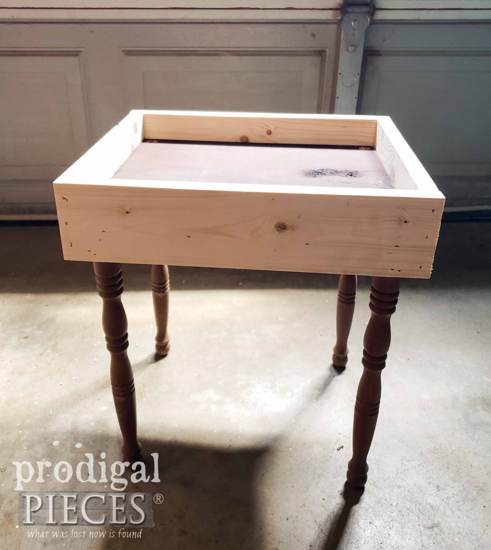 Upcycled Basket Table in the Rough | prodigalpieces.com #prodigalpieces