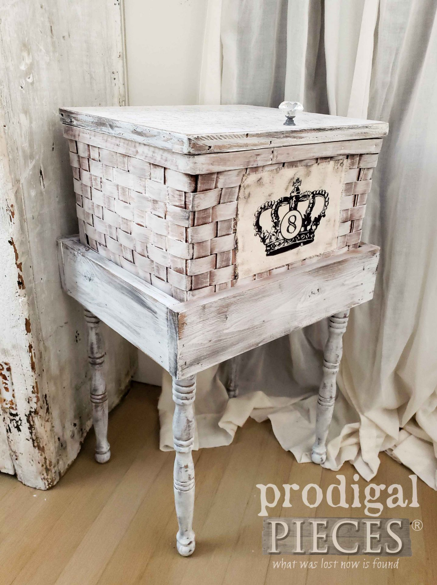 Handmade Basket with Storage and Mobility by Larissa of Prodigal Pieces | prodigalpieces.com #prodigalpieces #furniture #diy #home #homedecor
