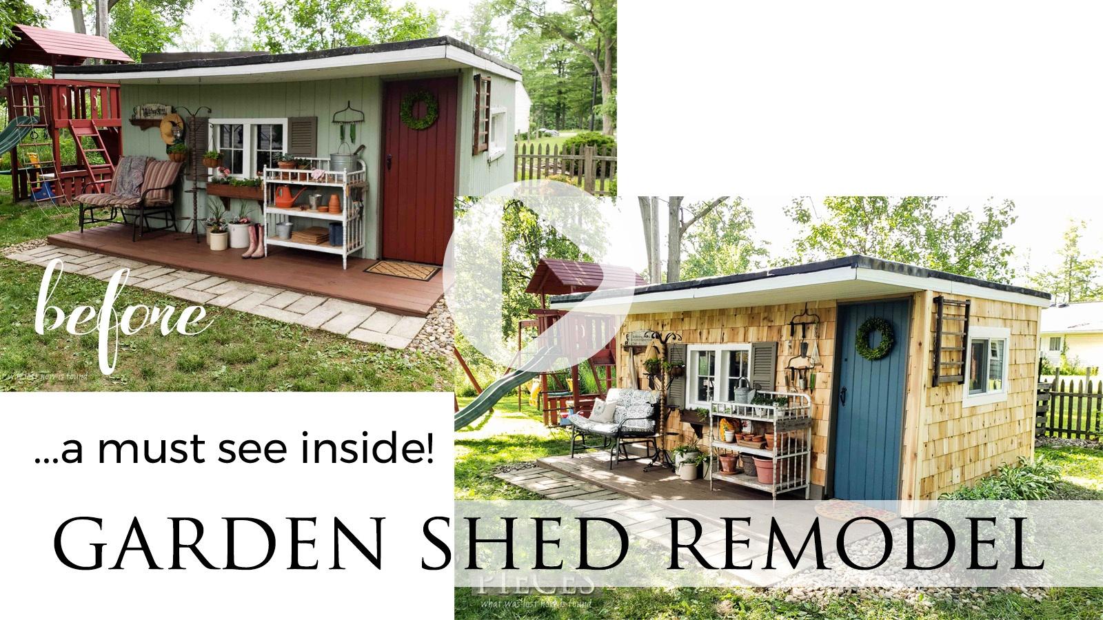DIY Garden Shed Remodel Reveal Video Tour by Larissa of Prodigal Pieces | prodigalpieces.com #prodigal #diy #garden #home #homedecor