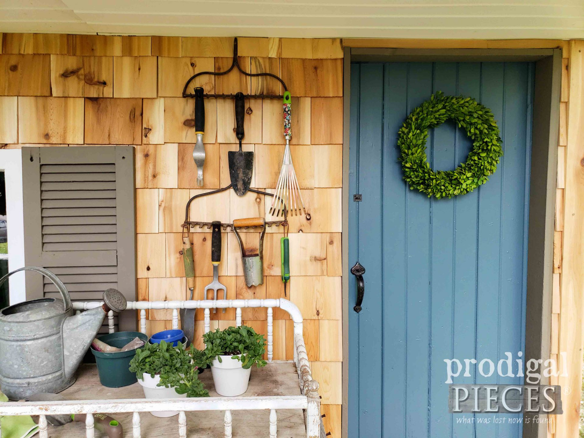 Blue Garden She Door by Prodigal Pieces | prodigalpieces.com #prodigalpieces #diy #garden