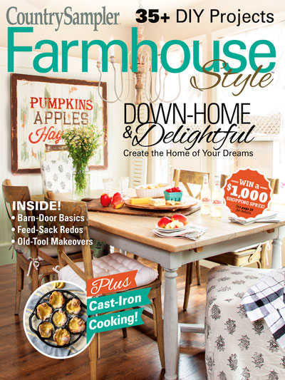 Larissa of Prodigal Pieces featured in Country Sampler Farmhouse Style Magazine Autumn 2018 | prodigalpieces.com