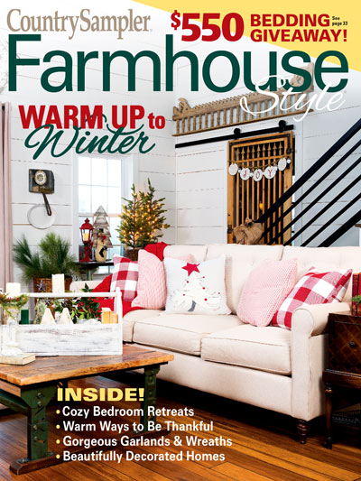 Larissa of Prodigal Pieces featured in Country Sampler Farmhouse Style Magazine Holiday 2019 | prodigalpieces.com