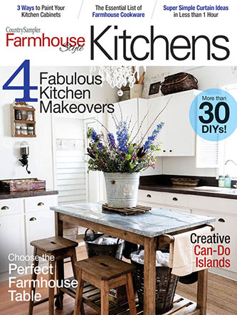 Larissa of Prodigal Pieces featured in Country Sampler Farmhouse Style Magazine Kitchens 2020 | prodigalpieces.com