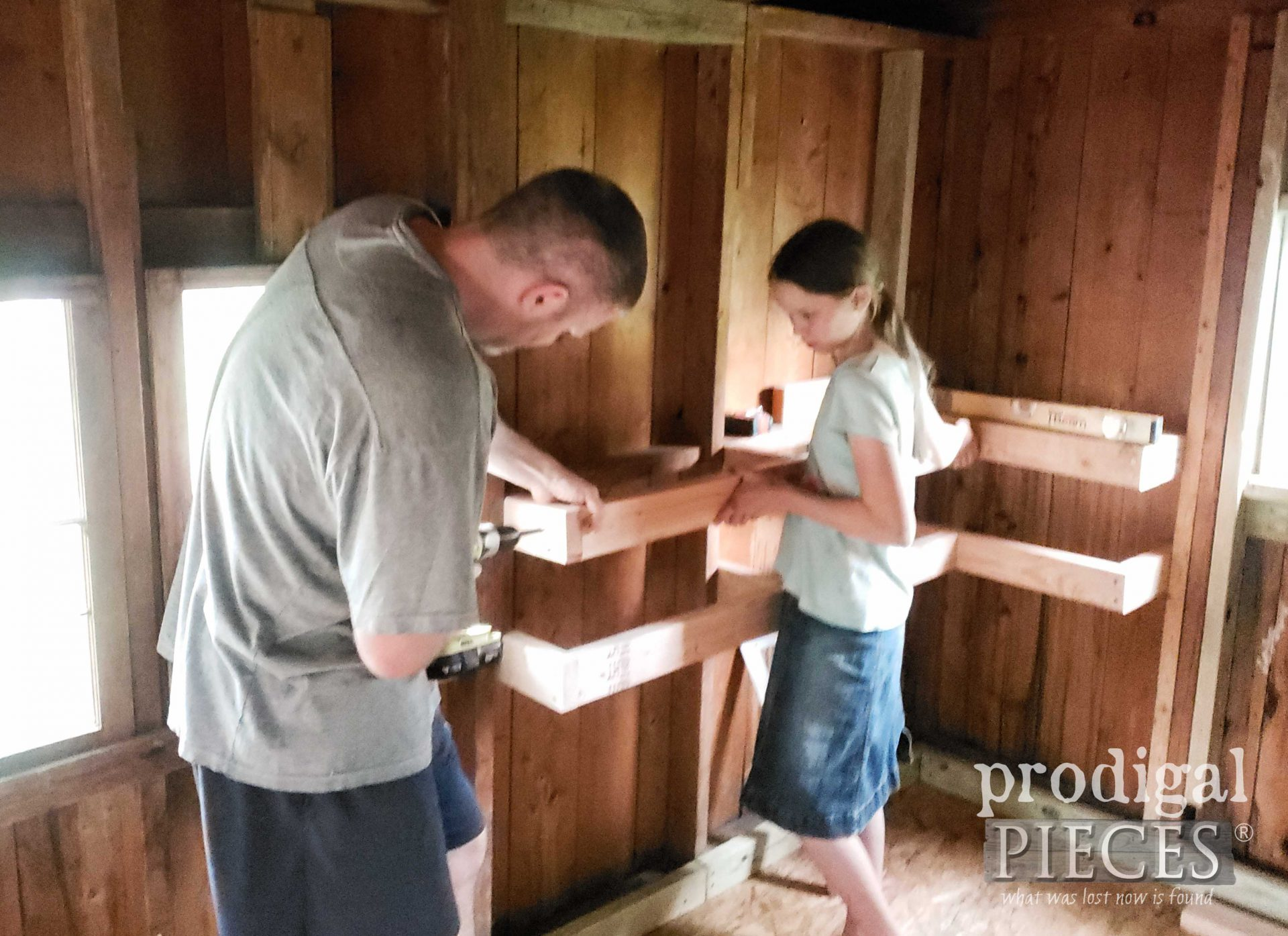 Daughter Helping Dad | prodigalpieces.com