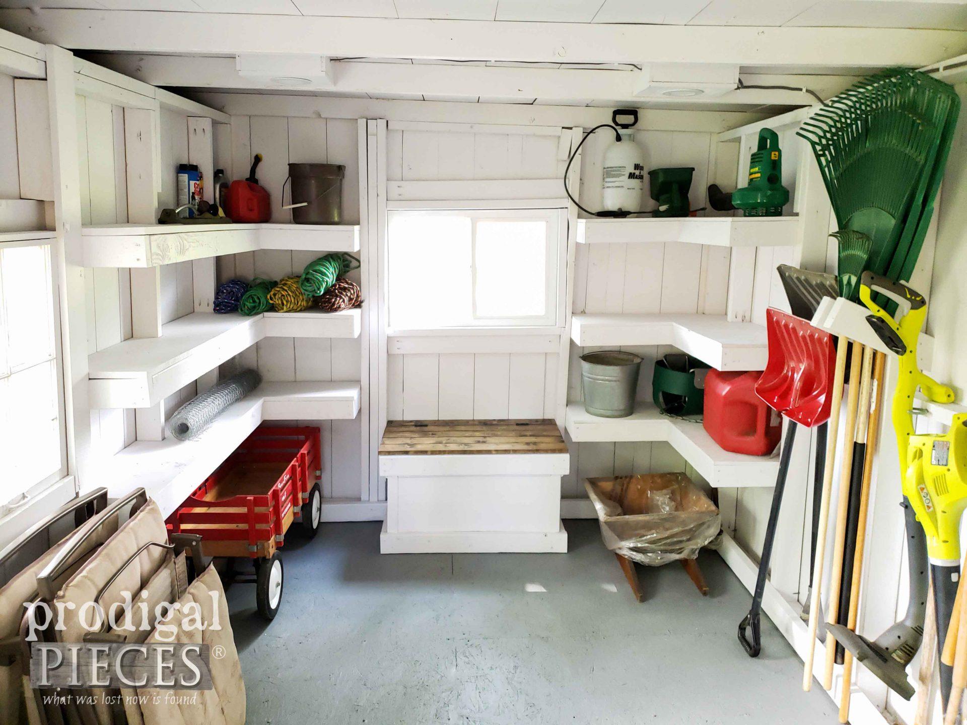 DIY Garden Shed Remodel with Custom Storage by Prodigal Pieces | prodigalpieces.com #prodigalpieces #diy #garden #storage
