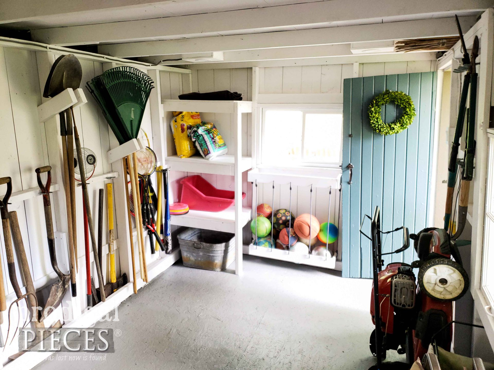 DIY Garden Shed Storage by Prodigal Pieces | prodigalpieces.com #prodigalpieces #garden