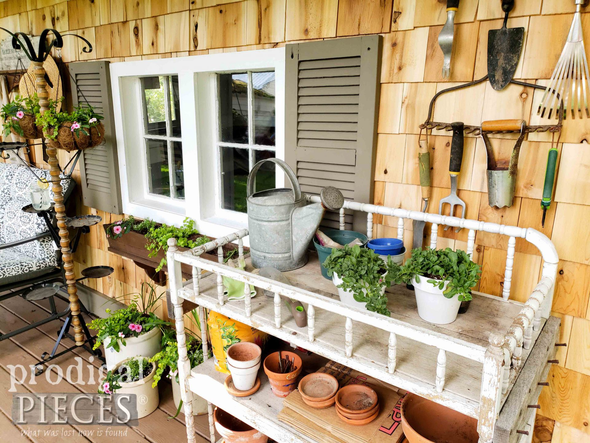 Farmhouse DIY Garden Shed Remodel by Prodigal Pieces | prodigalpieces.com #prodigalpieces #diy #home #homedecor #garden