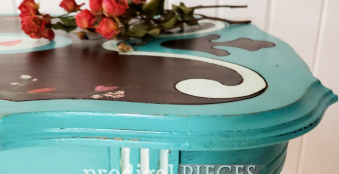 Ornate Antique Table Makeover with Stain & Paint