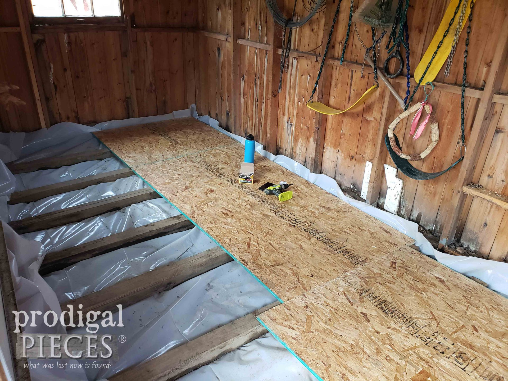 Floating Garden Shed Floor Remodel | prodigalpieces.com