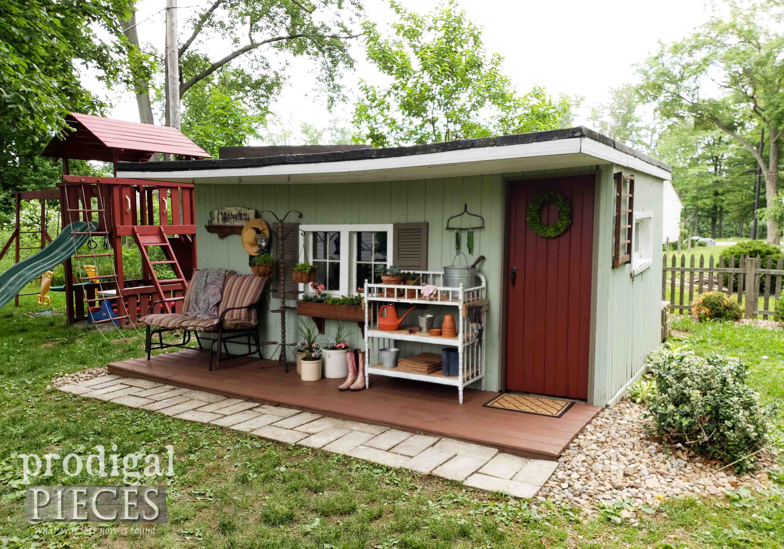 Backyard Garden Shed Before Remodel by Prodigal Pieces | prodigalpieces.com #prodigalpieces #diy #home #garden