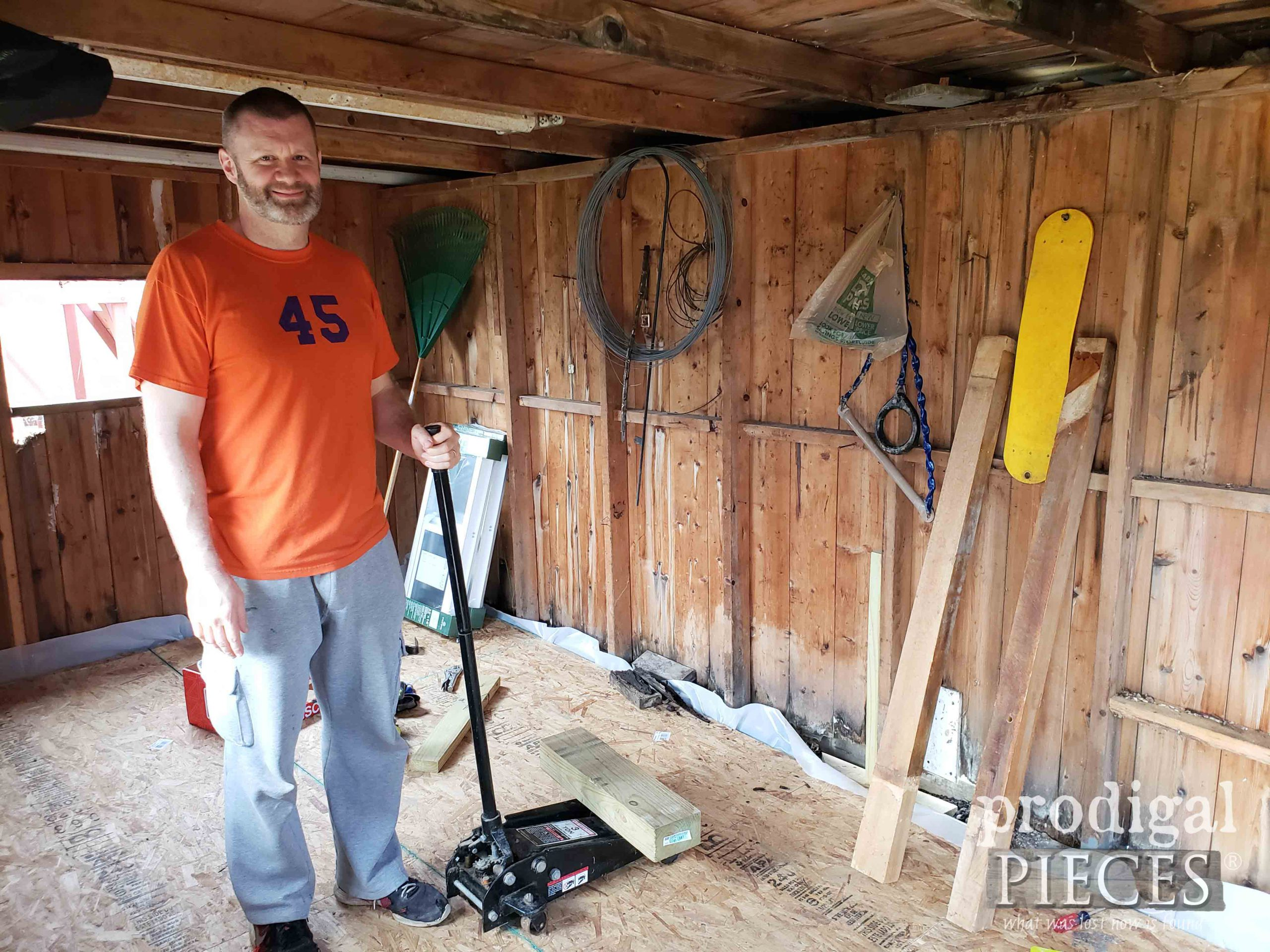 Jacking Shed Walls | prodigalpieces.com