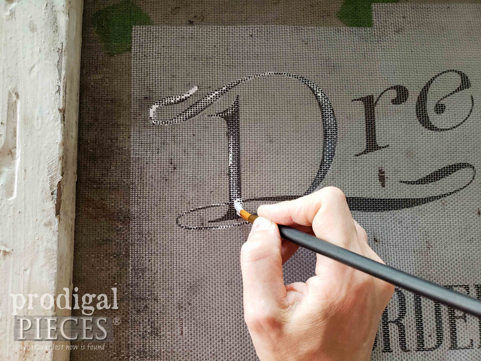 Painting a Window Screen with White Paint by Larissa of Prodigal Pieces | prodigalpieces.com