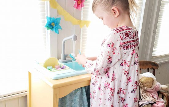 Play Kitchen with Running Water available at Prodigal Pieces | shop.prodigalpieces.com