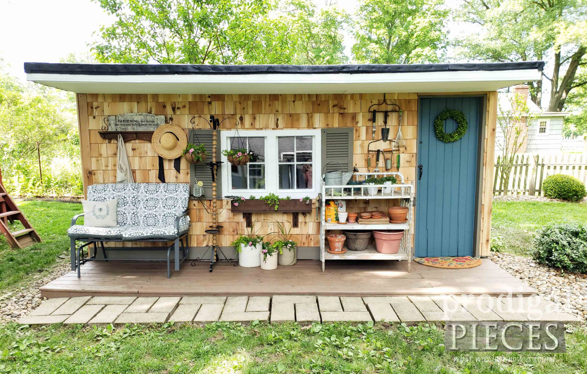Prodigal Pieces Garden Shed Remodel | prodigalpieces.com #prodigalpieces #diy #garden #farmhouse #home #homedecor