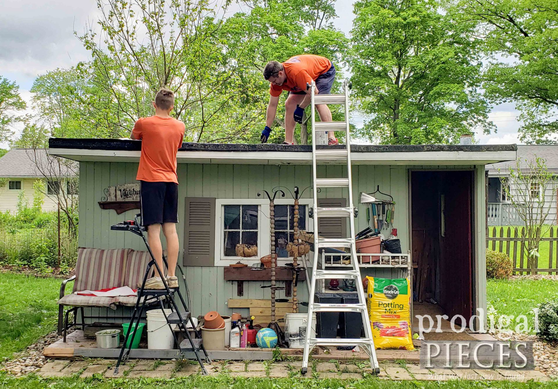 Repairing Garden Shed Roof | prodigalpieces.com