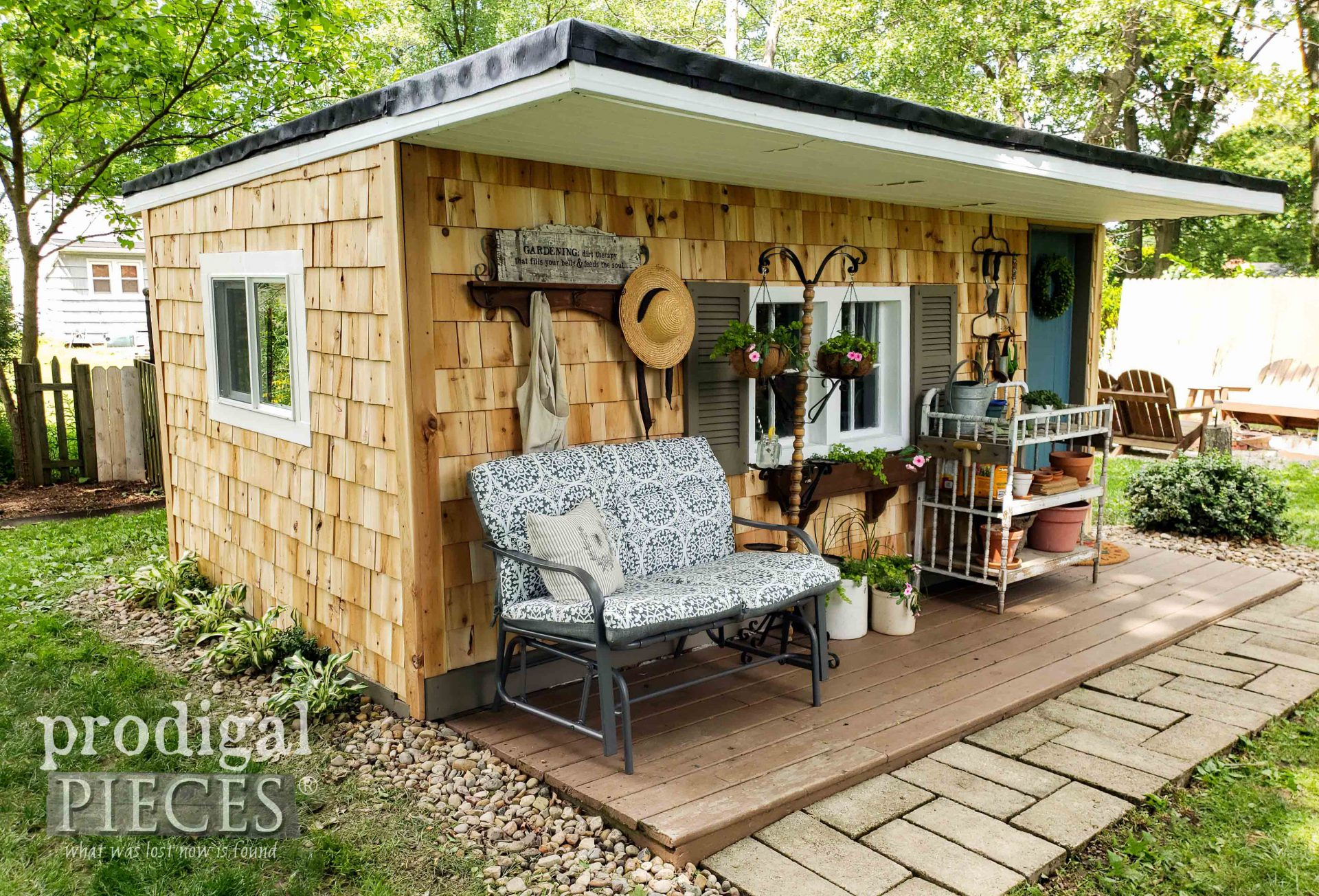 Rustic Cedar Garden Shed Remodel by Prodigal Pieces | prodigalpieces.com #prodigalpieces #diy #home #homedecor