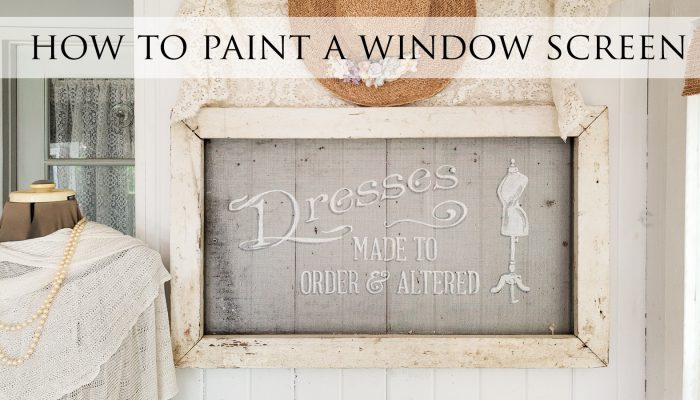 How to Paint on a Window Screen the Easy Way