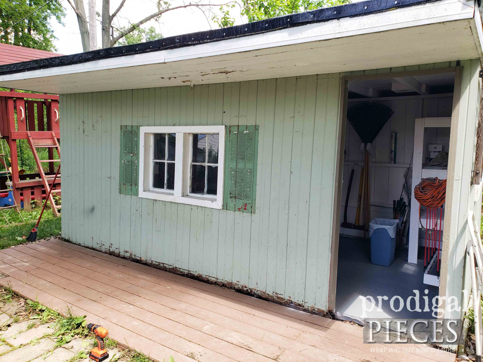 Garden Shed Front Before | prodigalpieces.com