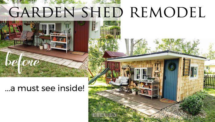 DIY Garden Shed Remodel