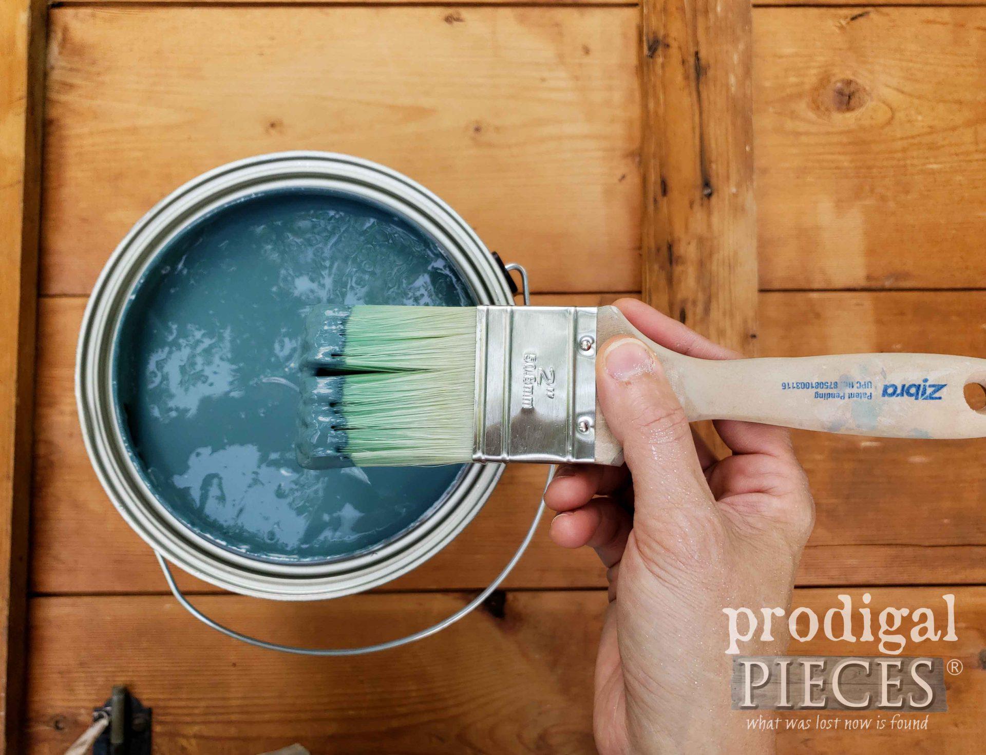 Superstition Blue Paint for Garden Shed Door | prodigalpieces.com