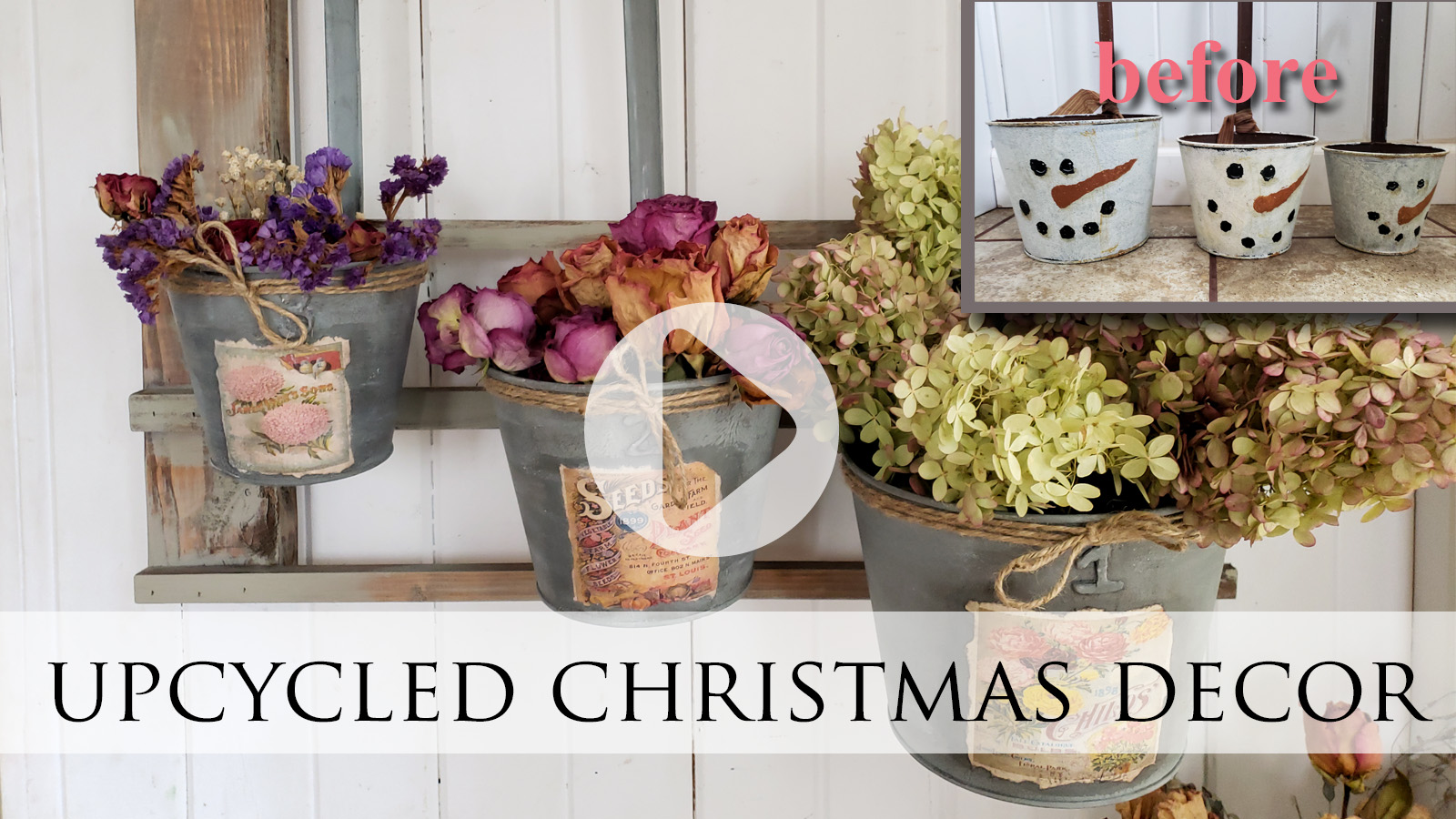 Upcycle that Old Christmas Decor   Video Tutorial by Larissa of Prodigal Pieces   prodigalpieces.com