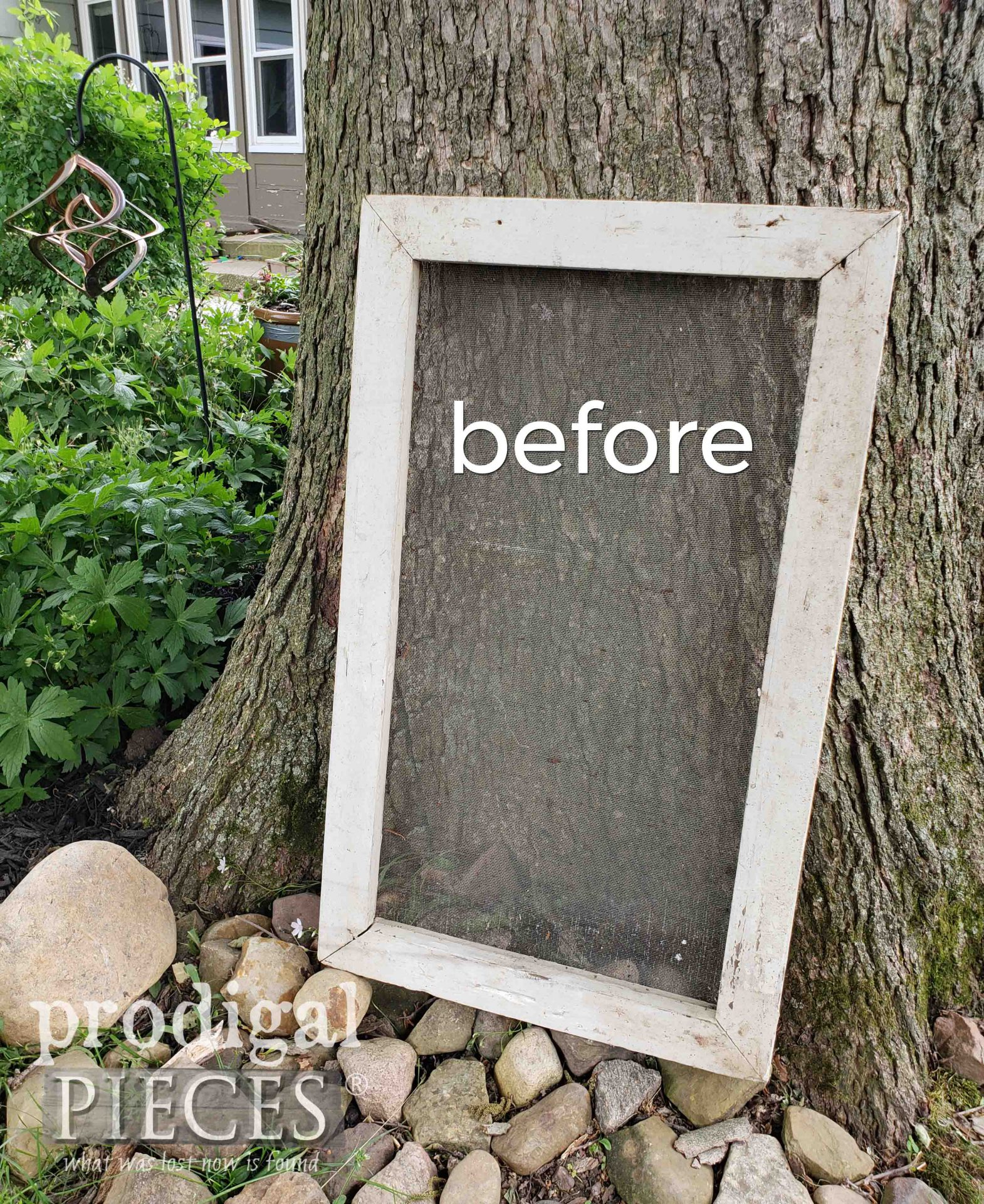Garden Shed Screen Before Upcycle by Larissa of Prodigal Pieces | prodigalpieces.com #prodigalpieces