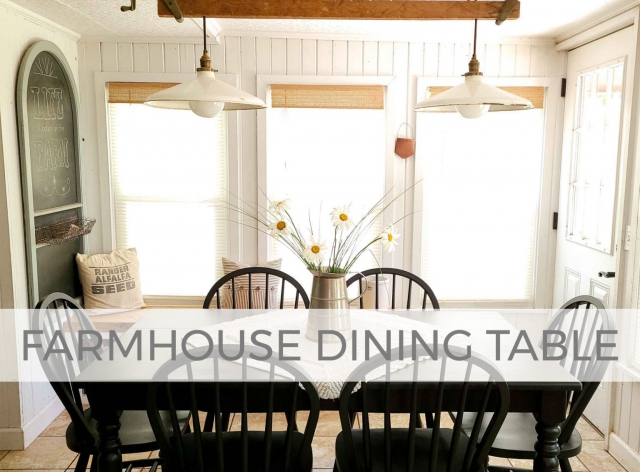 Black Farmhouse Dining Table with Windsor Chairs by Prodigal Pieces | prodigalpieces.com #prodigalpieces