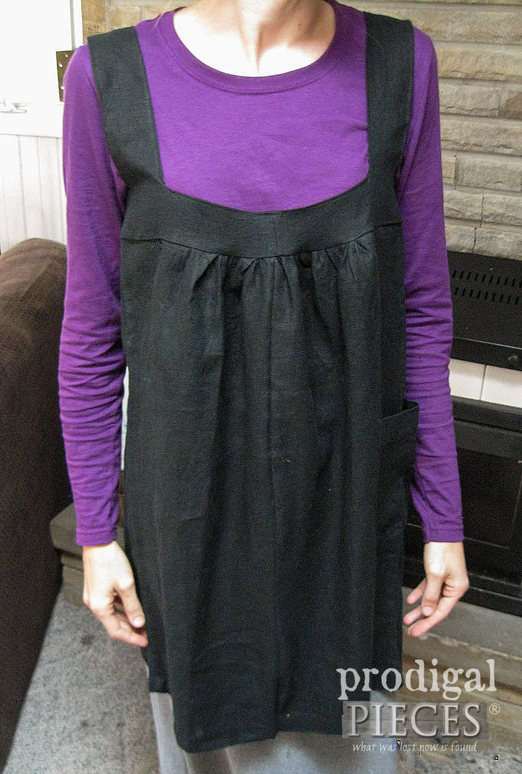 DIY Black Linen Smock from Refashioned Pants by Larissa of Prodigal Pieces | prodigalpieces.com #prodigalpieces