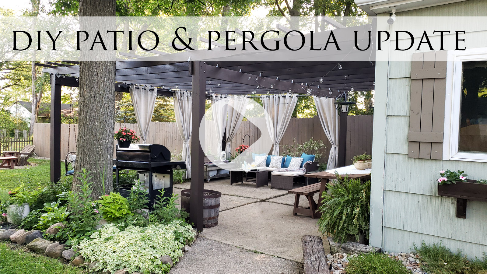 DIY Patio & Pergola Update with Video Tour by Larissa of Prodigal Pieces | prodigalpieces.com