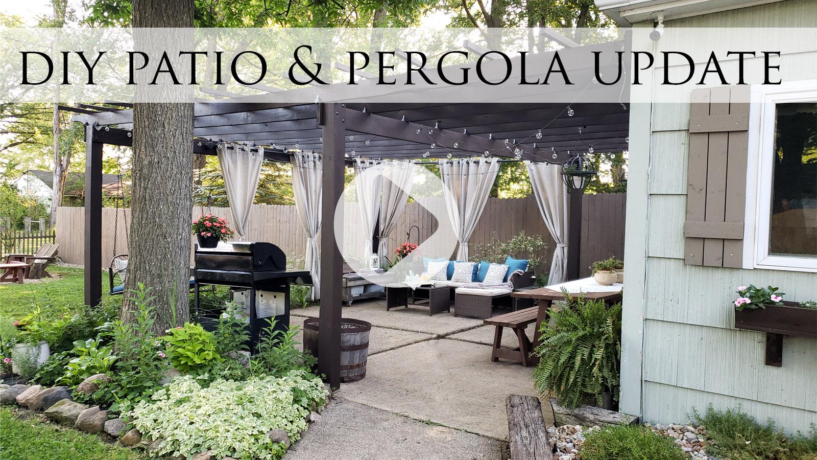 DIY Patio & Pergola Update with Video Tour by Larissa of Prodigal Pieces | prodigalpieces.com