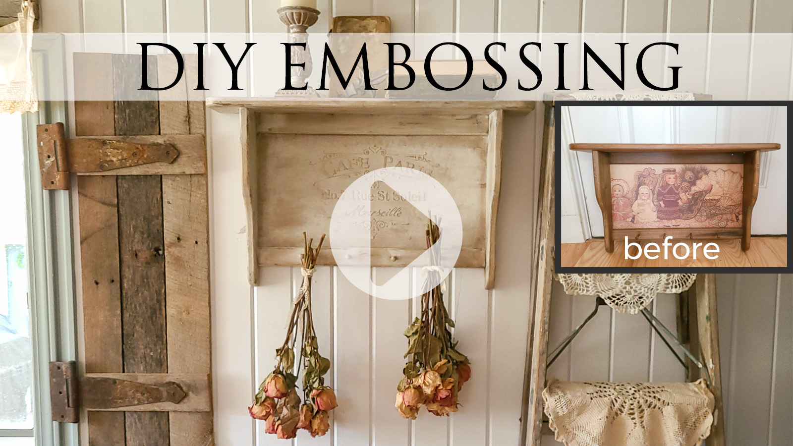 DIY Embossing using basic supplies | Video Tutorial by Larissa of Prodigal Pieces | prodigalpieces.com #prodigalpieces