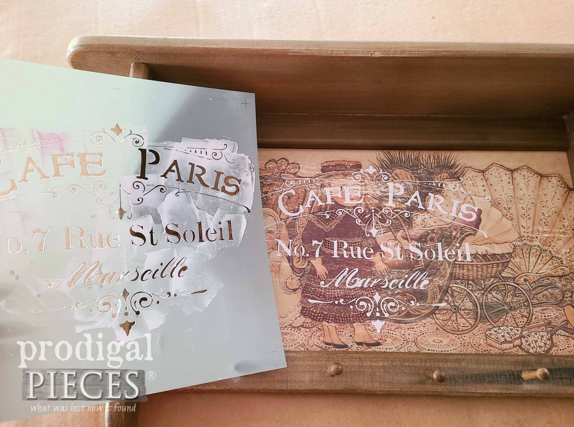 Cafe Paris Stencil Embossing by Larissa of Prodigal Pieces | prodigalpieces.com #prodigalpieces