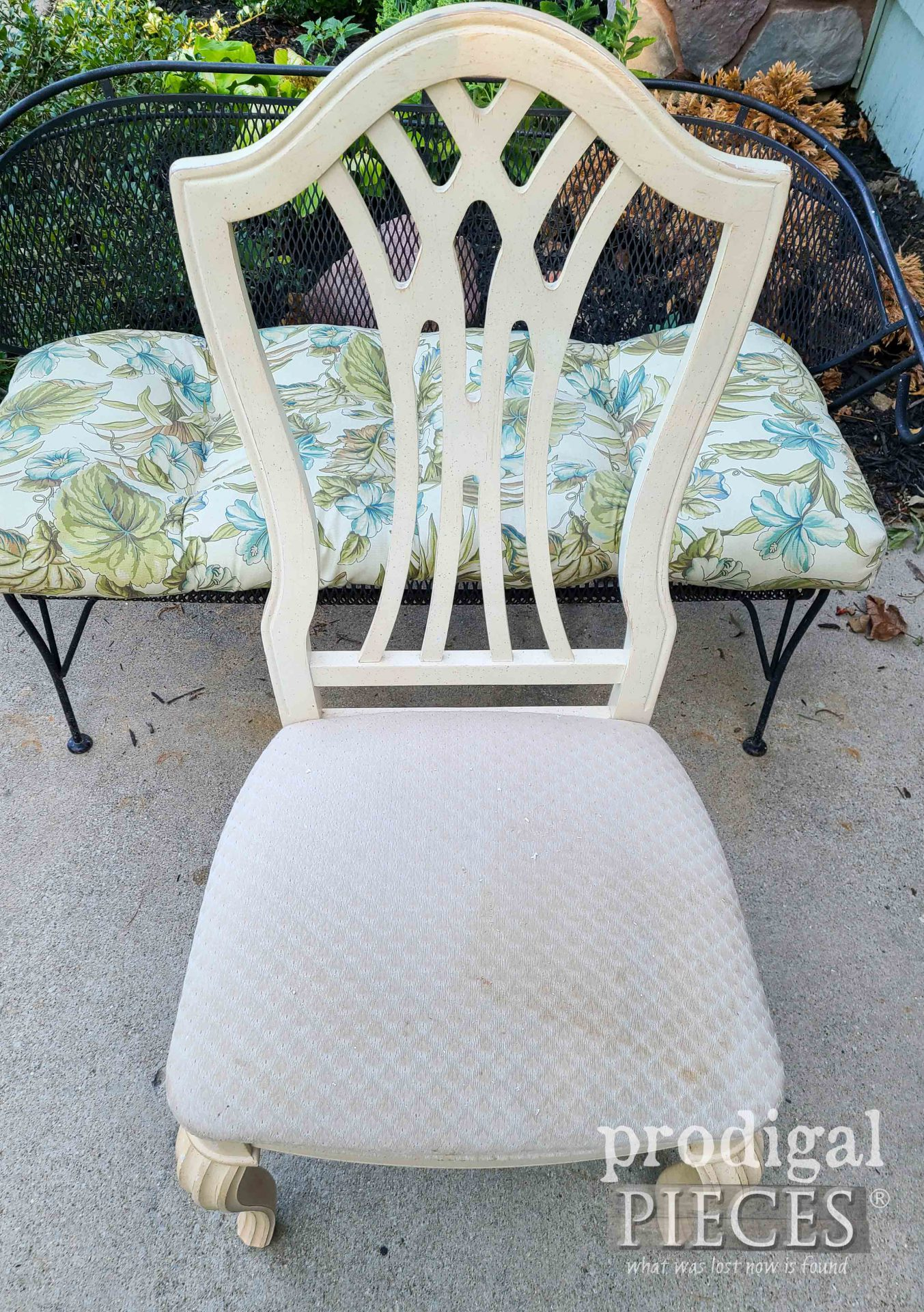 Curbside Chair Upholstery Before | Prodigal Pieces | prodigalpieces.com