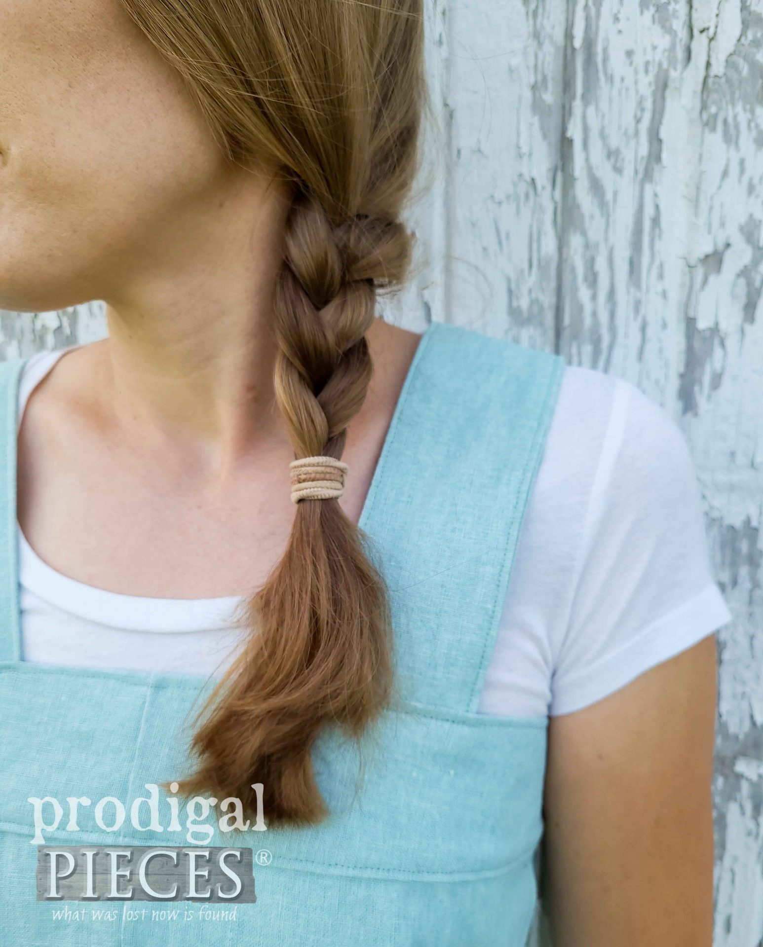 Closeup of DIY Linen Smock from Refashioned Pants by Larissa of Prodigal Pieces | prodigalpieces.com #prodigalpieces #sewing #refashion #fashion #handmade #linen