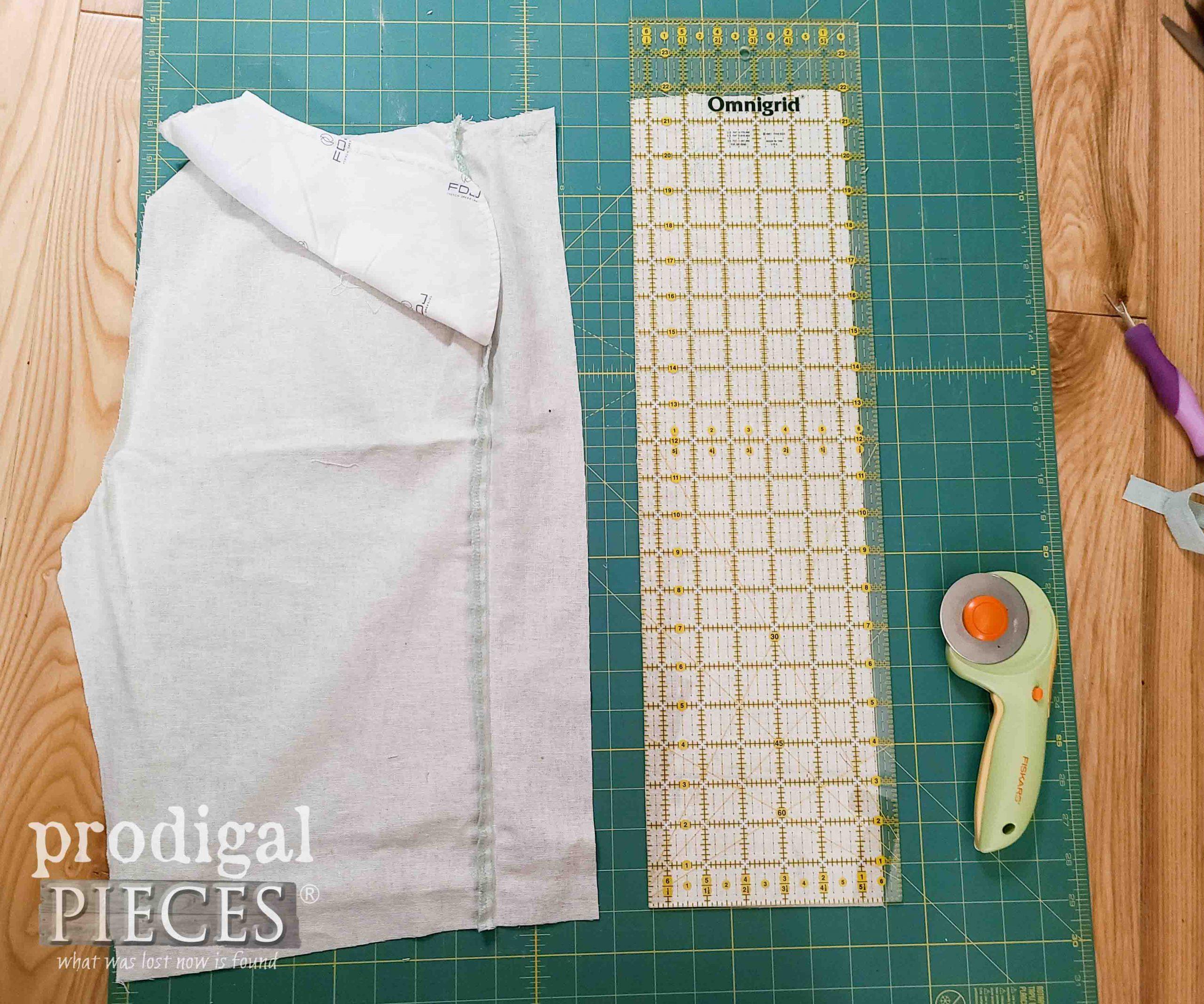 Cutting Shoulder Straps for DIY Linen Smock by Prodigal Pieces | prodigalpieces.com
