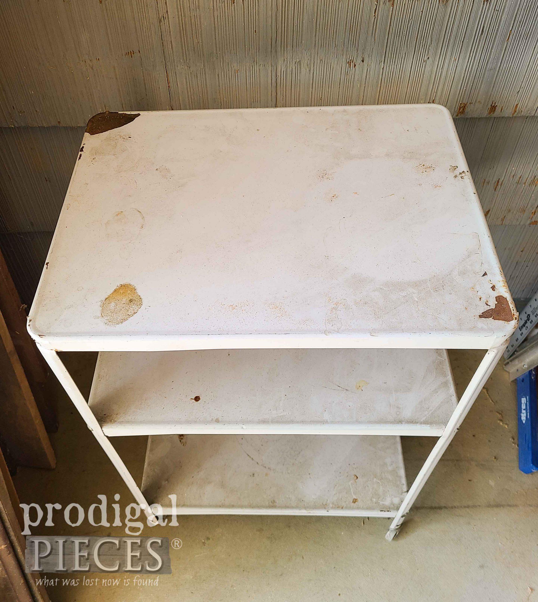 Damaged Vintage Serving Cart Top | prodigalpieces.com