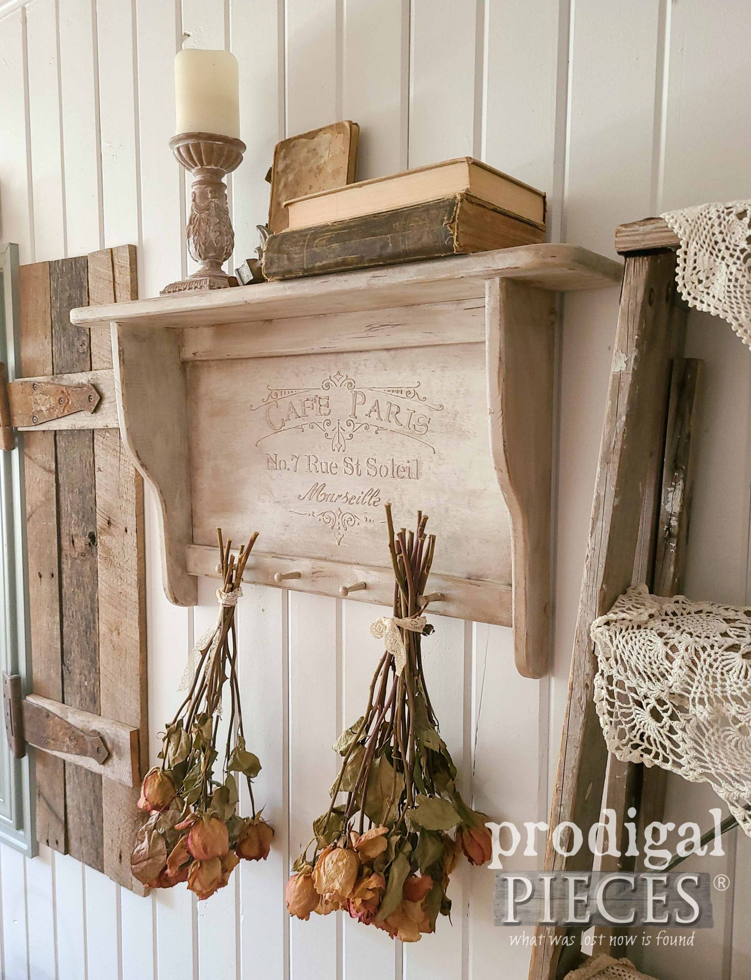 Distressed Farmhouse Chic with Video Tutorial by Larissa of Prodigal Pieces | prodigalpieces.com #prodigalpieces #diy #home #farmhouse #homedecor #embossing